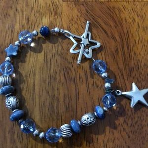 Sterling silver beaded bracelet. Super cute